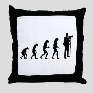 Evolution photographer Throw Pillow