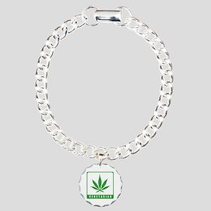 Vegetarian Charm Bracelet, One Charm