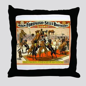 Colonel Schult's Great Danes Throw Pillow