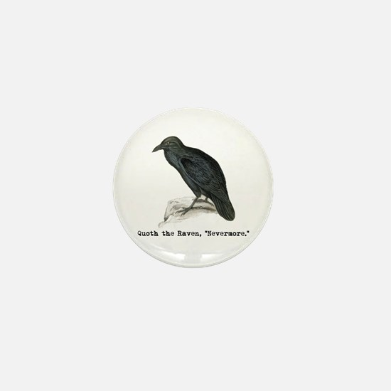 Edgar Allen Poe Mini Button
