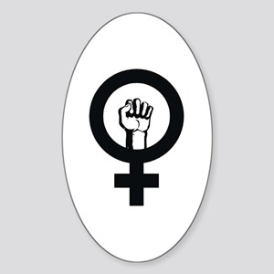 Female Power Oval Sticker