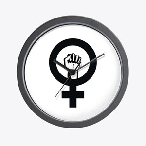 Female Power Wall Clock