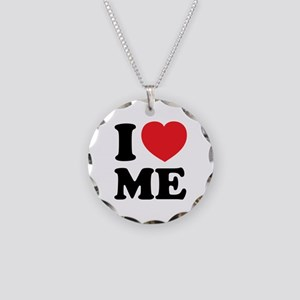 I LOVE ME Necklace Circle Charm