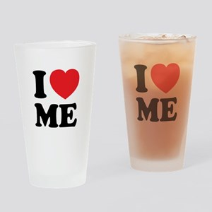 I LOVE ME Drinking Glass