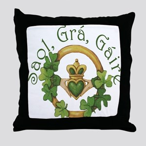 Life, Love, Laughter Throw Pillow