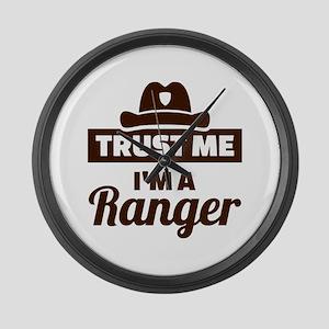Trust me I'm a ranger Large Wall Clock