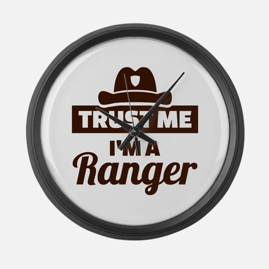 Trust me I'm a ranger Large Wall Clock