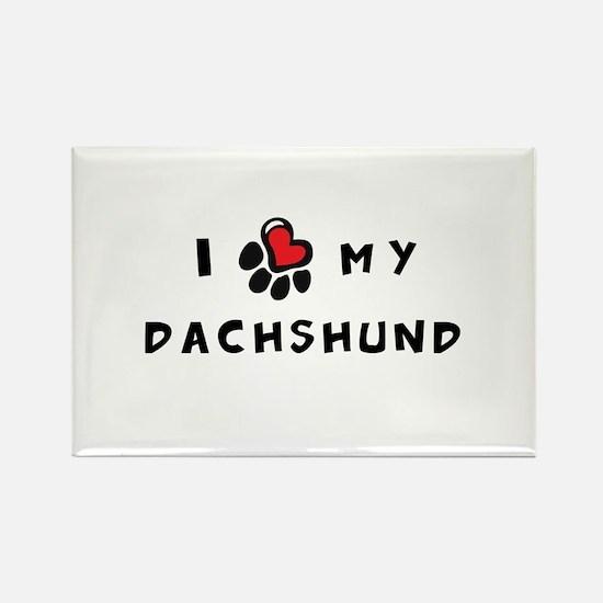 I *heart* My Dachshund Rectangle Magnet