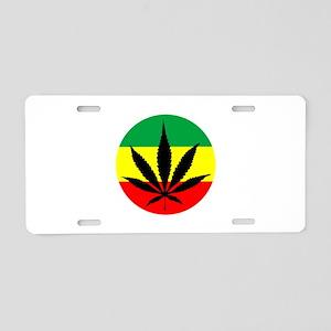 Rasta Marijuana Aluminum License Plate