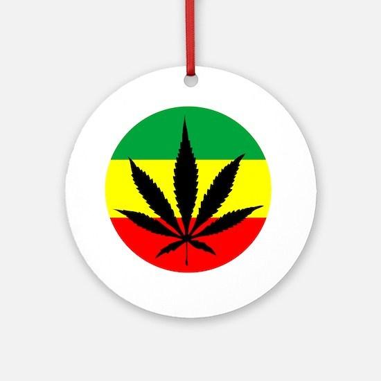 Rasta Marijuana Ornament (Round)
