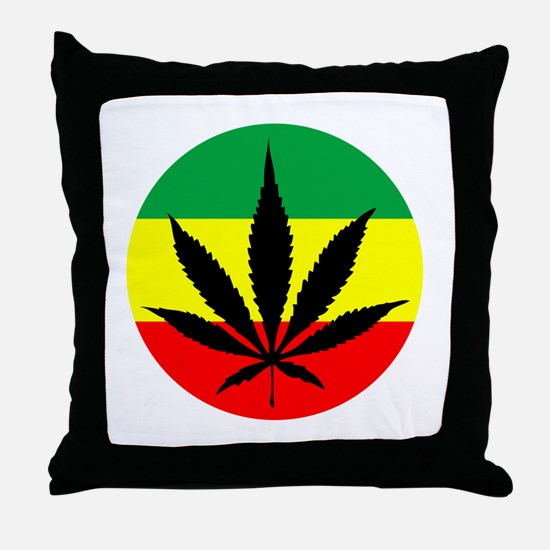 Rasta Marijuana Throw Pillow