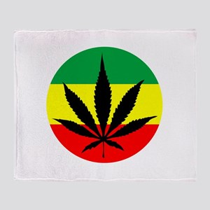 Rasta Marijuana Throw Blanket