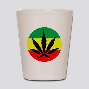 Rasta Marijuana Shot Glass