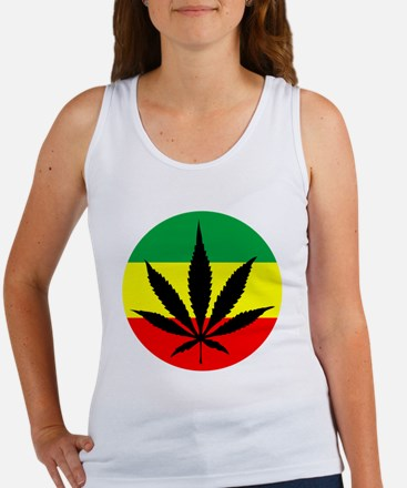 Rasta Marijuana Women's Tank Top
