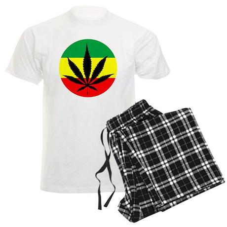 Rasta Marijuana Men's Light Pajamas