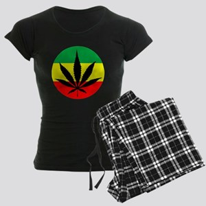 Rasta Marijuana Women's Dark Pajamas