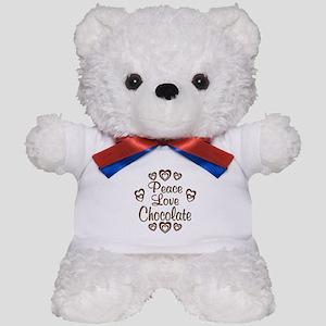 Peace Love Chocolate Teddy Bear