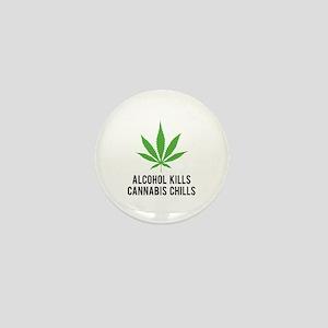 Cannabis Chills Mini Button