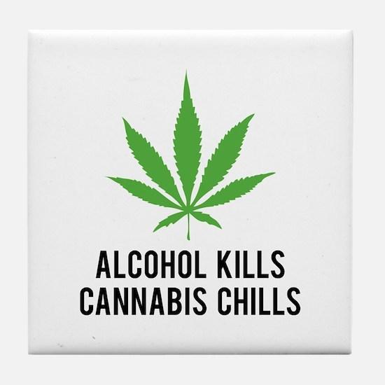 Cannabis Chills Tile Coaster