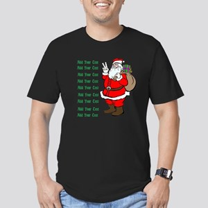 Add Your Own Text Santa Men's Fitted T-Shirt (dark