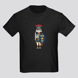 Cute Roman Soldier Kids Dark T-Shirt