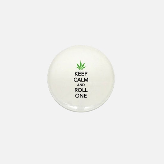 Keep calm and roll one Mini Button