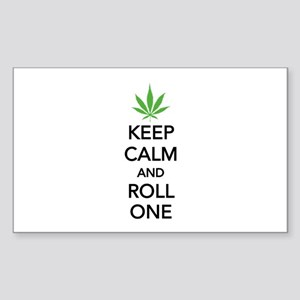 Keep calm and roll one Sticker (Rectangle)