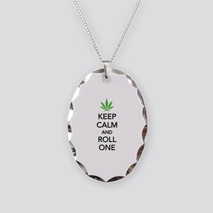 Keep calm and roll one Necklace Oval Charm