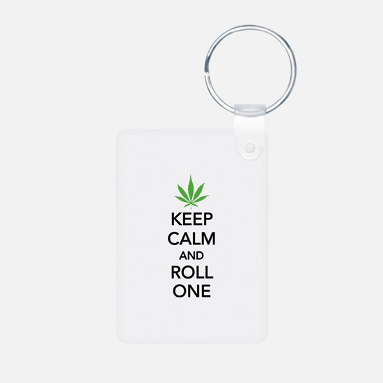 Keep calm and roll one Keychains