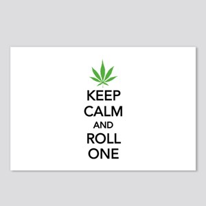Keep calm and roll one Postcards (Package of 8)