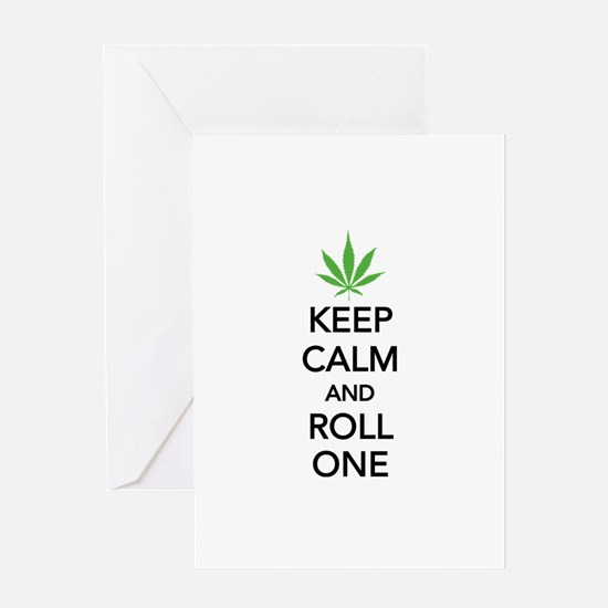 Keep calm and roll one Greeting Card