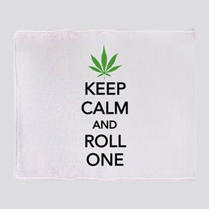Keep calm and roll one Throw Blanket