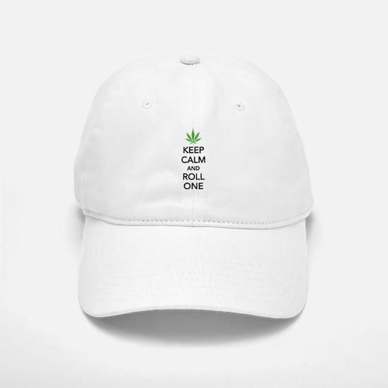 Keep calm and roll one Baseball Baseball Cap