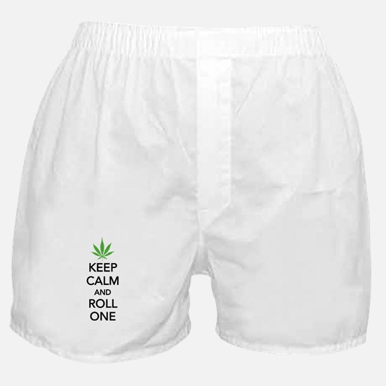 Keep calm and roll one Boxer Shorts
