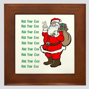 Add Your Own Text Santa Framed Tile