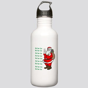 Add Your Own Text Santa Stainless Water Bottle 1.0