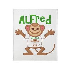 Little Monkey Alfred Throw Blanket