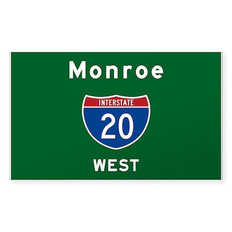 Monroe 20 Sticker (Rectangle)