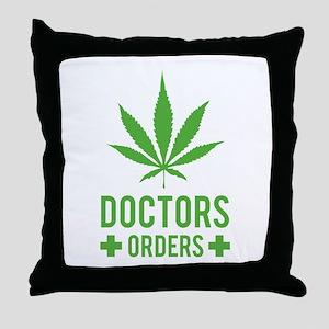 Doctors Orders Throw Pillow