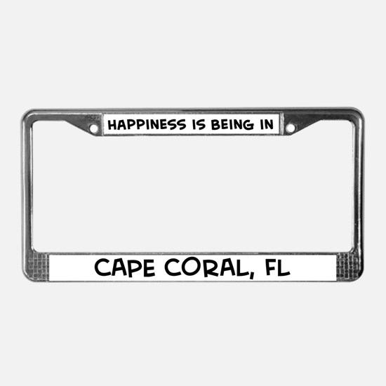 Happiness is Cape Coral License Plate Frame