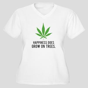 Hapiness Women's Plus Size V-Neck T-Shirt