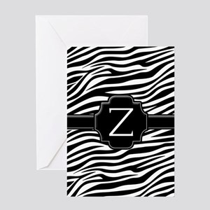 Monogram Letter Z Gifts Greeting Card