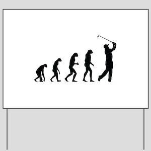 Evolution golf Yard Sign