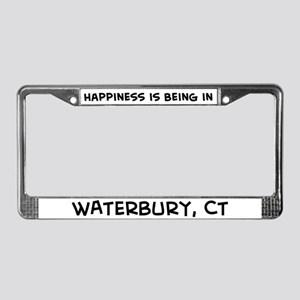 Happiness is Waterbury License Plate Frame
