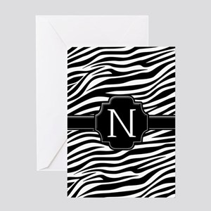 Monogram Letter N Gifts Greeting Card