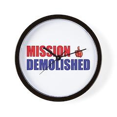 Mission Demolished Wall Clock