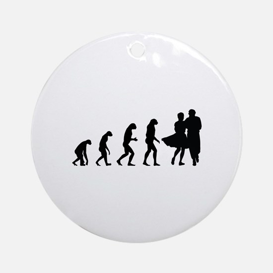Evolution dancing Ornament (Round)