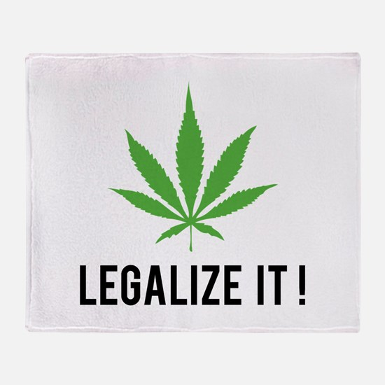 Legalize it ! Throw Blanket