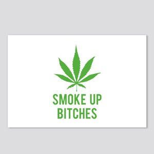 Smoke up bitches Postcards (Package of 8)