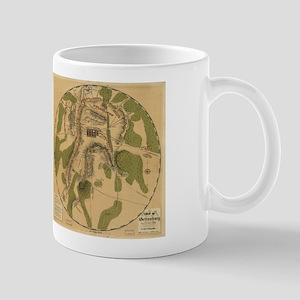 Gettyburg Map Mug